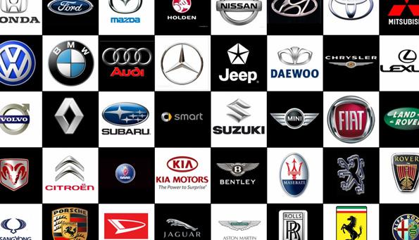 Visų automobilių markių ženklai